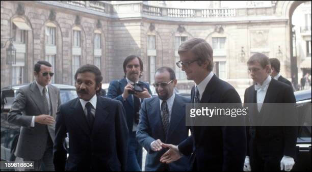 Picture dated 09 July 1973 of former Algerian minister of Foreign affairs Abdelaziz Bouteflika arriving for talks with French president Georges...