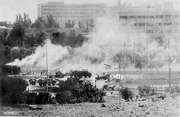 Picture dated 10 October 1973 of Damascus after the bombing of the Israeli army during the Yom Kippur War On October 06 1973 on the Jewish holiday...