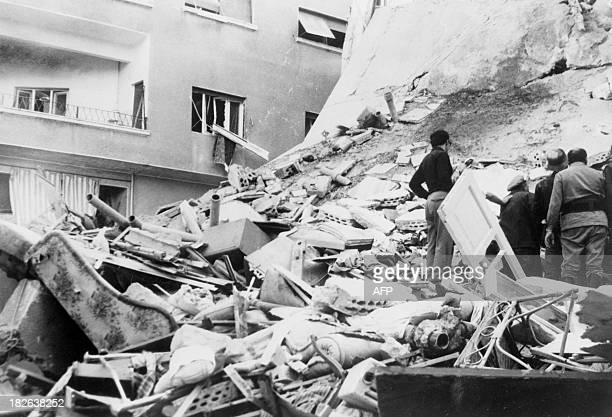 Picture dated 10 October 1973 of the Indian embassy destroyed by Israeli bombing during the Yom Kippur War On October 06 on the Jewish holiday Yom...