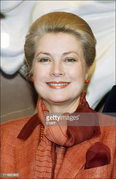 Picture dated 16 June 1982 of Princess Grace de Monaco American born before her marriage with Prince Rainier III of Monaco in 1956 Grace Kelly who...