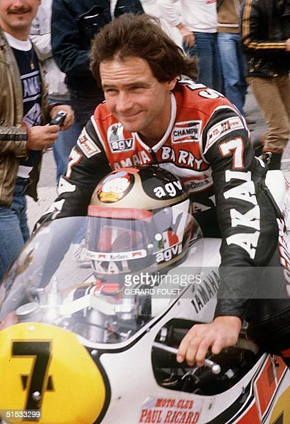 Picture dated 18 May 1981 shows Barry Sheene at the French Motor 500cc Grand Prix in Le Castellet The former twotime English world 500cc motorcycle...