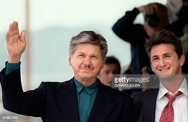 Picture dated 18 May 1991 of US actors Charles Bronson and Sean Penn during the 44th Cannes film festival, southern France. Bronson died 30 August...