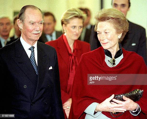 A picture dated 19 November 1999 shows Grand Duchess of Luxembourg JosephineCharlotte and her husband Grand Duke Jean visiting the 500th Carolus...