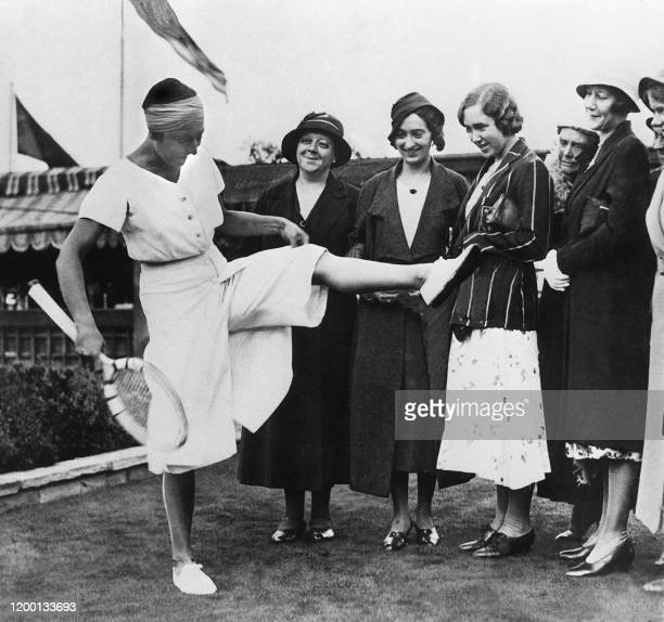 Picture dated 1935 and showing famous French tennis player Suzanne Lenglen . Suzanne Lenglen, who died in 1938 at the age of 39, remains the most...