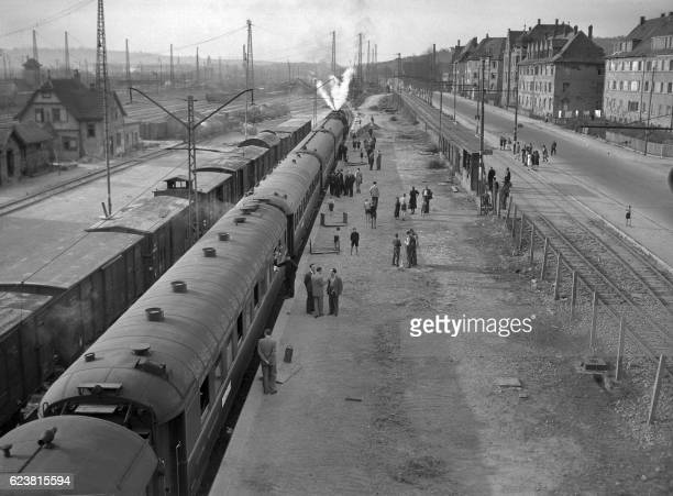 Picture dated 1946 of the long-distance passenger luxury train Orient Express. In 1977, the Direct Orient Express was withdrawn completely, with the...