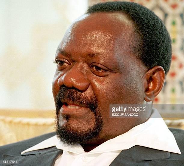 Picture dated 1996 of Jonas Savimbi the leader of the Angolan guerilla group UNITA