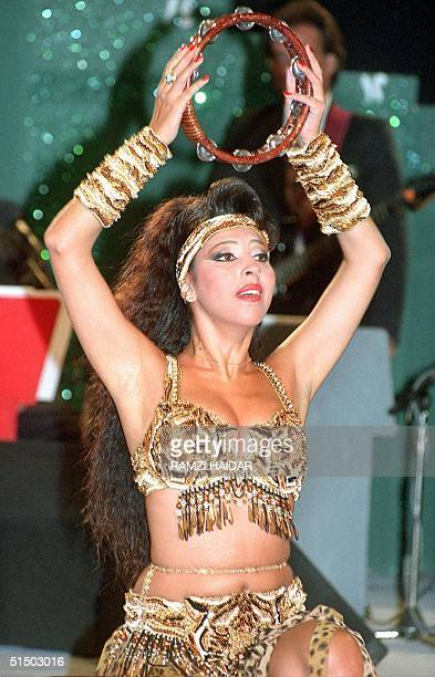 Picture dated 1997 shows Lebanese belly dancer Amani performing in Beirut Local and Arab oriental dance shows are a main feature of Lebanon's vibrant...