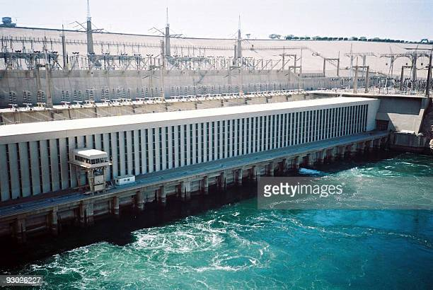 A picture dated 2004 shows a general view of Egypt's High Dam in Aswan The construction of the Aswan High Dam was initiated by Gamal Abdel Nasser and...