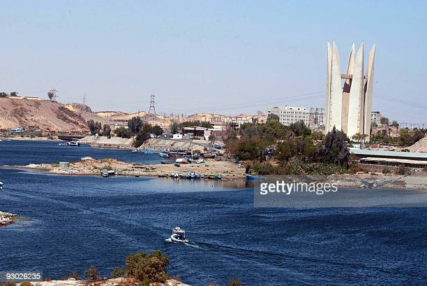 A picture dated 2004 shows a general view of Nasser Lake on Egypt's High Dam in Aswan The construction of the Aswan High Dam was initiated by Gamal...