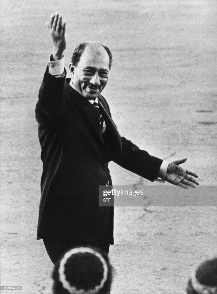 Picture dated 23 November 1977 of Egyptian Preside : News Photo