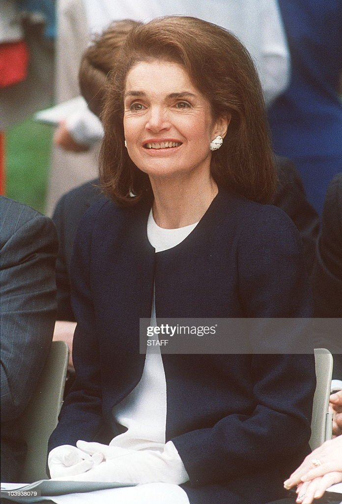Picture dated 29 May 1990 of Jacqueline Kennedy Onassis during a ceremony in memory of her husband John F. Kennedy, U.S. President assassinated 21 november 1963.
