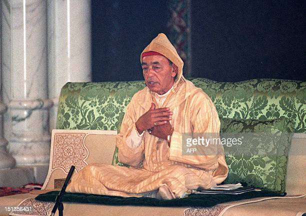 Picture dated 30 August 1993 showing King Hassan II of Morocco during the inauguration of the Hassan II mosque in Casablanca King Hassan II died...