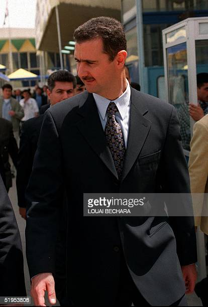 Picture dated April 1999 shows Bashar son of late Syrian President Hafez alAssad in Damascus The 34yearold heir apparent was named chief of Syria's...