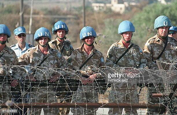 Picture dated August 1996 shows UN peacekeeping troops along the Green Line in Nicosia, the world's last divided capital. Cyprus President Glafcos...