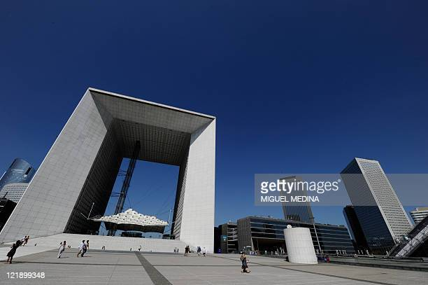 Picture dated August 20 2011 of la La Défense and its Grande Arche La Defense is a major business district of the Paris aire urbaine With a...
