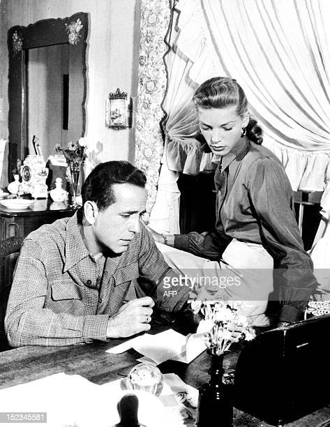 Picture dated from 1948 of legendary US actor director producer Humphrey Bogart beside his wife US actress Lauren Bacall From 1936 to 1940 Bogart...