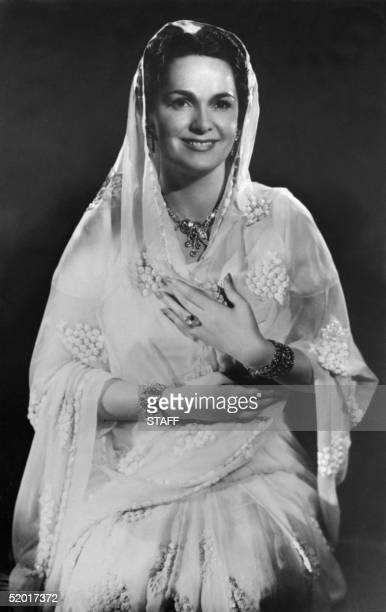 Picture dated from the 40s of The Begum Aga KhGn III , French born Yvette Labrousse. Beauty pageant, Yvette Labrousse was elected Miss Lyon in 1929,...