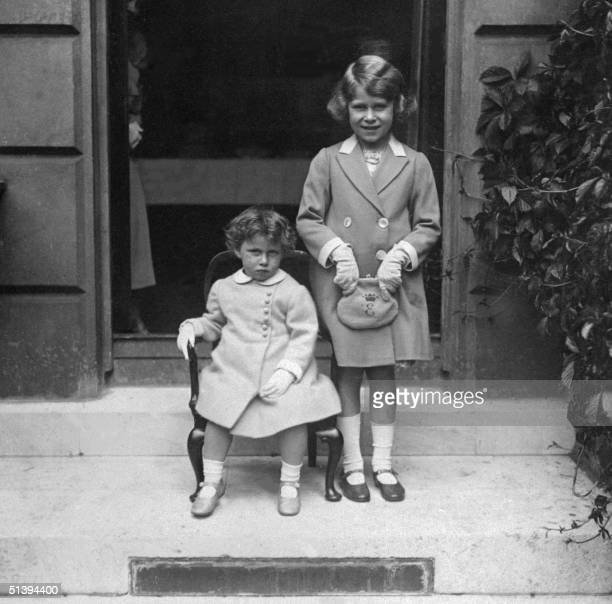 Picture dated from the year 1933 of Princess Margaret the younger sister of future Britain's Queen Elizabeth II Margaret was born at Glamis Castle 21...