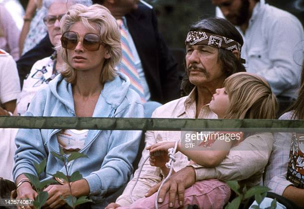 Picture dated July 1970 of US actor Charles Bronson his wife Jill Ireland and his daughter during the Olympic Games in Montreal Bronson died 30...