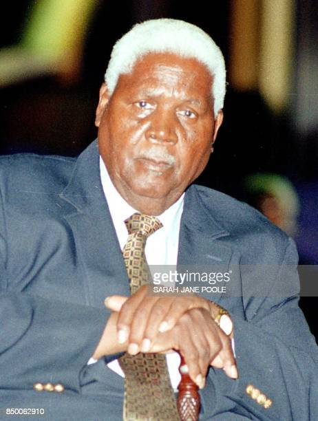 Picture dated July 1998 showing Zimbabwean liberation here Joshua Nkomo who died early 01 July 1999 at the age of 83 ending a political career that...