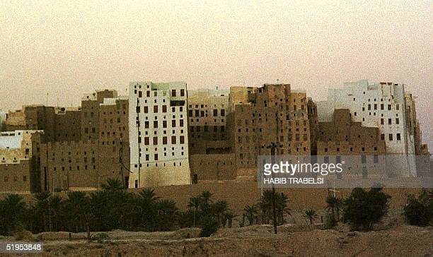 Picture dated March 2000 shows ancient clay skyscrapers in Shibam on the ancient incense route in the Hadramawt Valley of Yemen The archaeological...