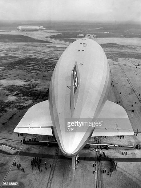 Picture dated May 1936 of German giant zeppelin 'Hindenburg' in Lakehurst USA Pride of the German Third Reich the Hindenburg the largest aircraft...