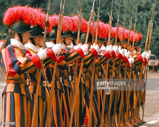 Picture dated November 1996 shows Vatican's Swiss Guards during a ceremony The murder of Colonel Alois Estermann the newlyappointed head of the...