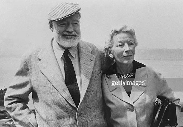 Picture dated of the 60's showing American writer Ernest Hemingway with his wife on board the Constitution crossing the Atlantic Ocean toward Europe