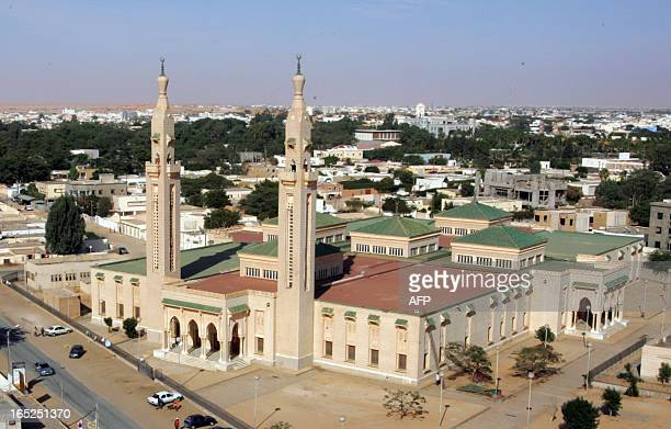 Picture dated on February 07 2008 shows the big central Saudi Mosque in Nouakchott AFP PHOTO GEORGES GOBET