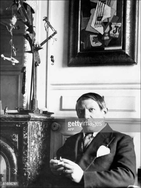Picture dated probably in 1930 in Paris of Pablo Ruiz Picasso , a Spanish painter and sculptor, born in Malaga and established in Paris in 1904. His...