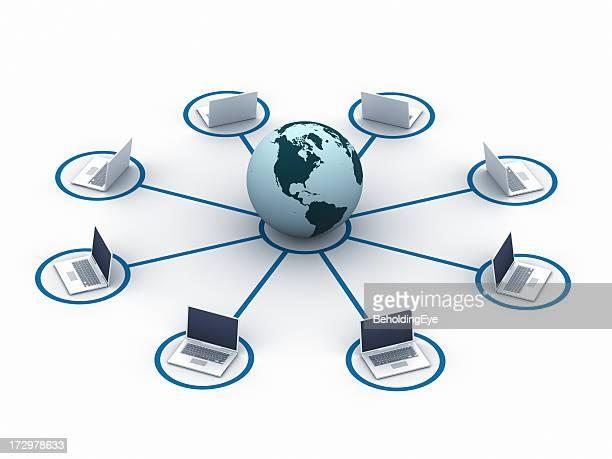 ノートパソコンのネットワーク(北米中南米)XXL