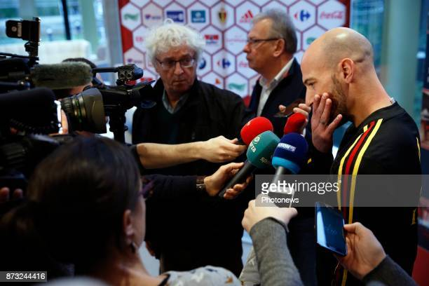 picture during the press conference and training session of the Red Devils at the national training center on November 12 2017 in Tubize Belgium