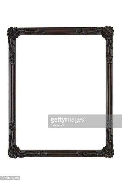 写真のブラックのアールデコ、ホワイトの絶縁デザイン要素 - 黒枠 ストックフォトと画像
