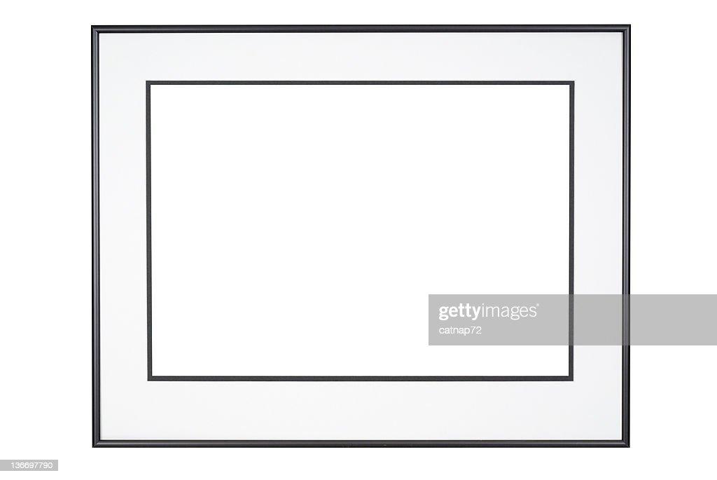 画像フレームでクラシックなブラックとホワイト、絶縁 : ストックフォト