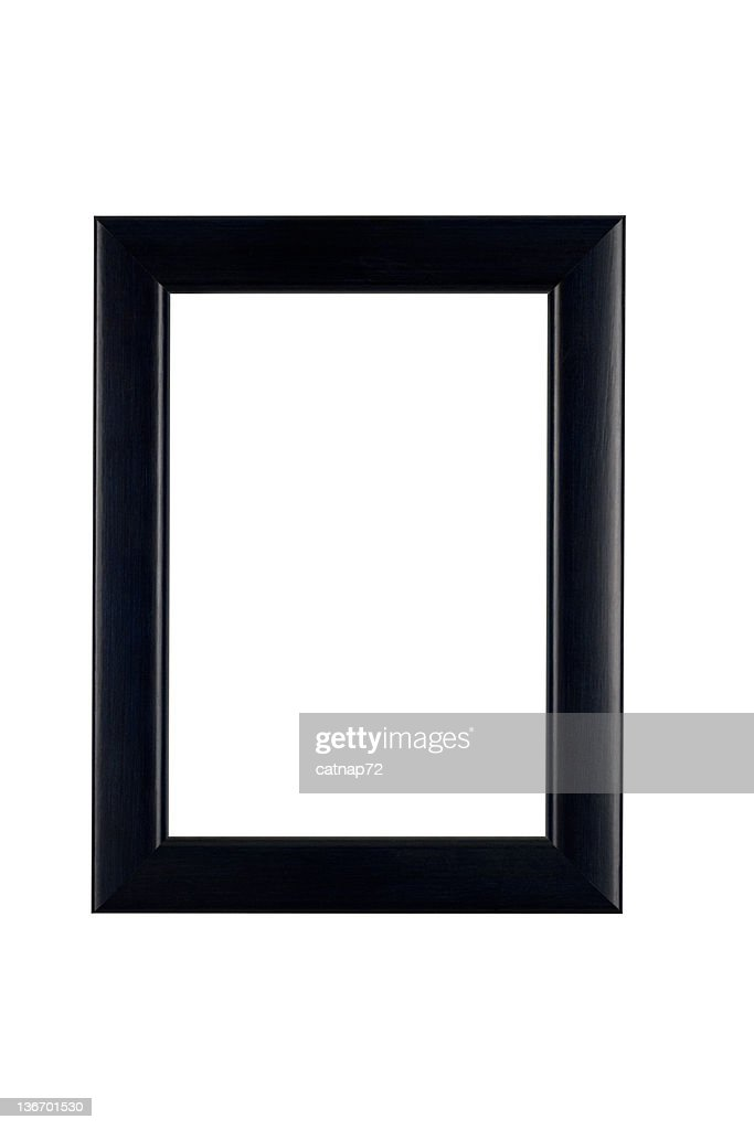画像フレームでクラシックなブラック、ホワイトの絶縁 : ストックフォト