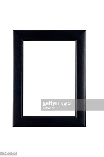 Picture Frame in Classic Black, White Isolated