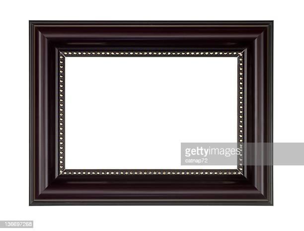 Cadre photo en brun foncé, isolé blanc
