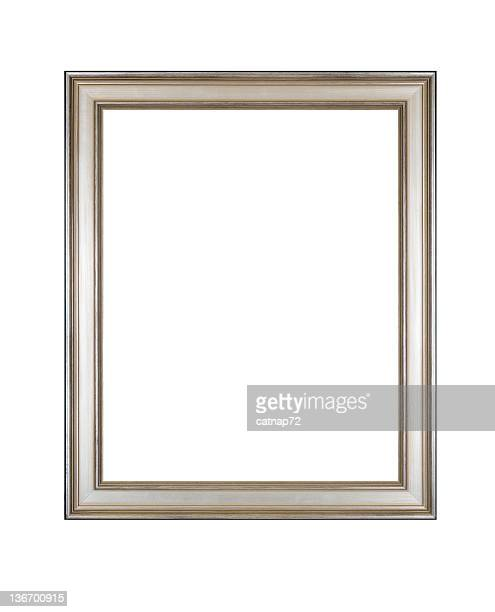 Picture Frame in Silver, Antique Style, White Isolated Studio Shot