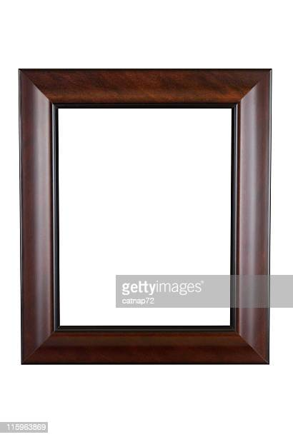 Picture Frame in Smooth Brown, Modern Contemporary, White Isolated
