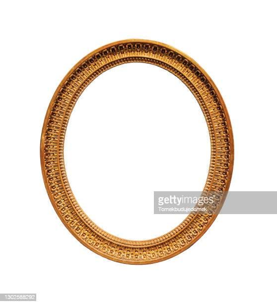 picture frame - oval stock-fotos und bilder