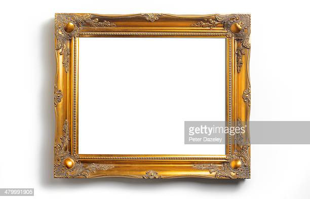 picture frame with copy space - gilded stock pictures, royalty-free photos & images