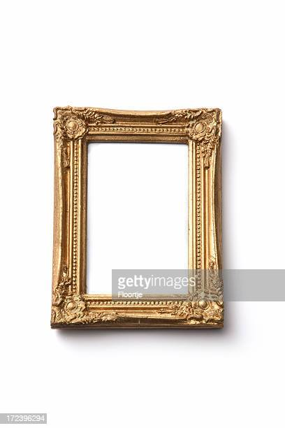 picture frames: golden frame - ornate stock pictures, royalty-free photos & images