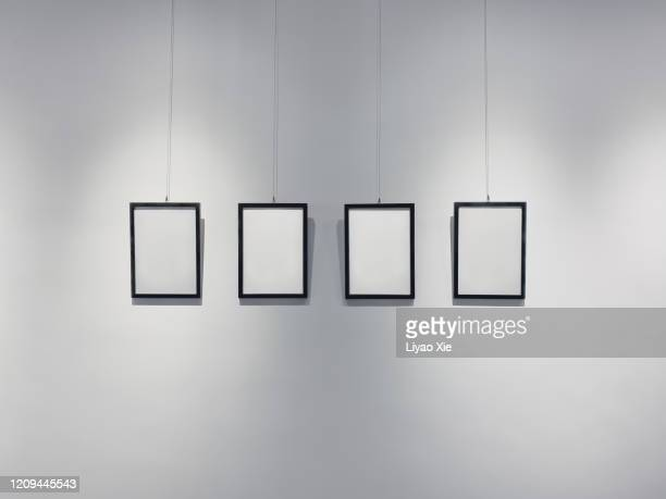 picture frames on the wall - konstmuseum bildbanksfoton och bilder