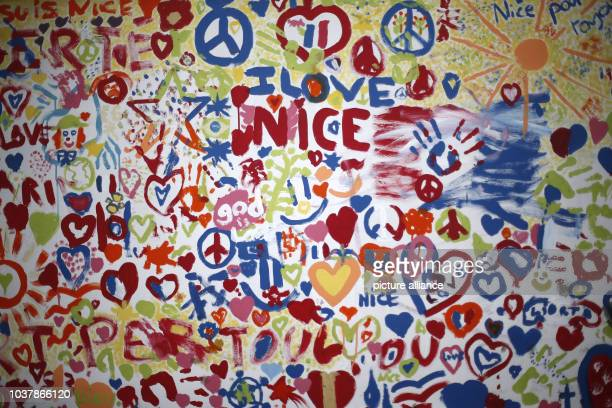 A picture 'I love Nice' can be seen on the 'Promenade des Anglais' in Nice France 14 September 2016 A 31yearold Tunisian man had driven into a crowd...