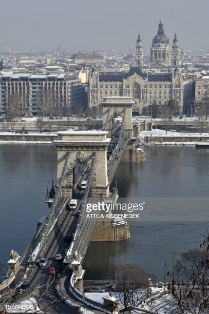 A picture is taken on February 8 2010 shows the oldest Hungarian bridge the Chain Bridge over the Danube river in the Hungarian capital Budapest AFP...