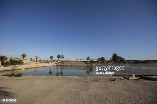A picture issued on 24 December 2017 shows a view of the sacred lake at the Karnak Temple in Luxor Upper Egypt 08 December 2017 Photo Gehad Hamdy/dpa