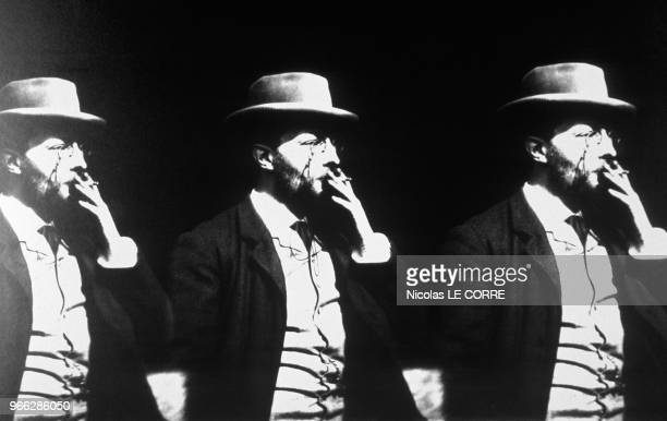 Picture Of 1893 Movie Georges Demeny Smoking 100th Anniversary Of Gaumont Exhibition Paris February 27 1995