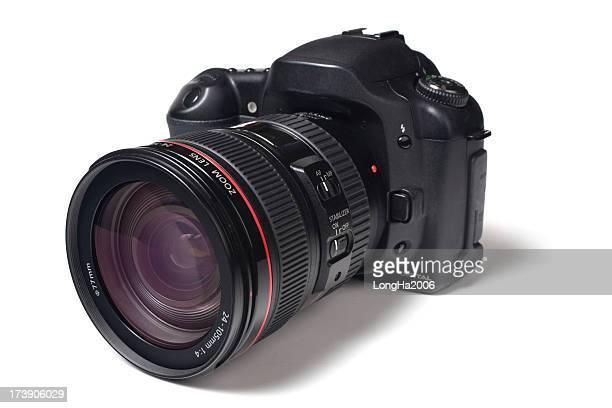 A picture of a black digital camera
