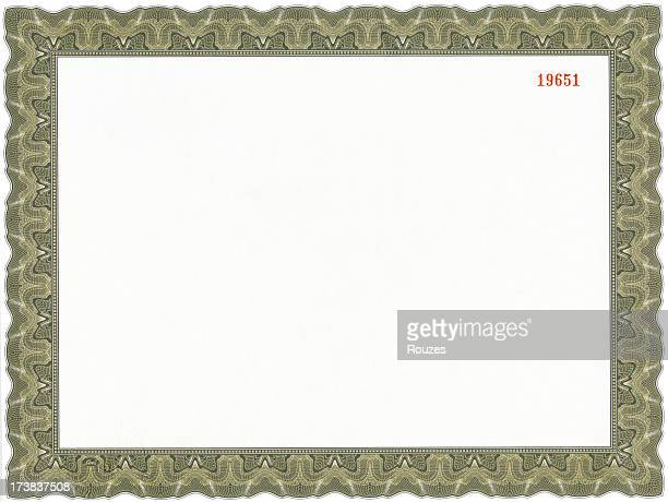 A picture of a blank certificate