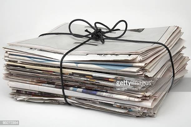 A picture of a bundle of newspapers